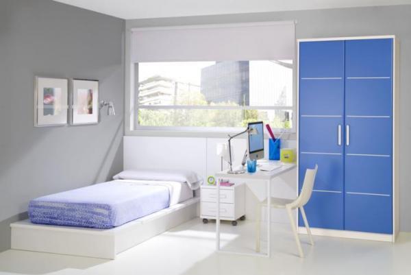Детска стая - в бяло и синьо