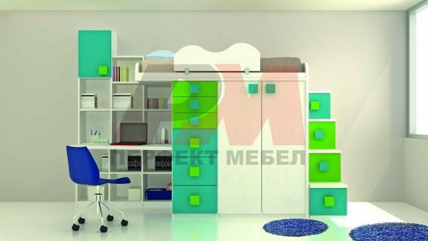 Мебели за децата с 2-етажни легла