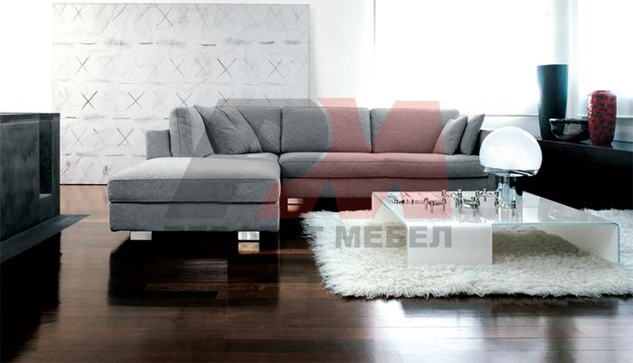 Ъглови дивани с лежанка по поръчка с вградени светлини
