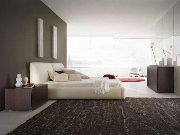 Тапицирано легло с мебели венге