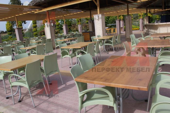 Пластмасови столове на промоция, за открито