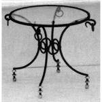 стъклена маса по поръчка от ковано желязо 3908-3171
