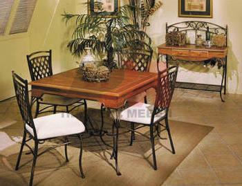 Столове и маса ковано желязо за двор