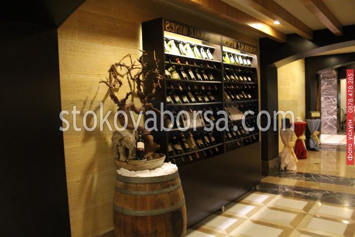 дървен стелаж за вино